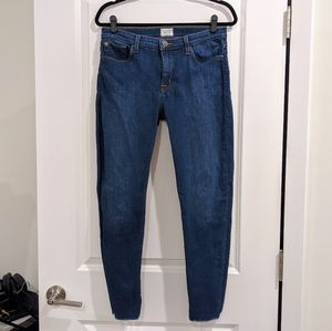 Hudson Mid-Rise Ankle Super Skinny Jeans - 31
